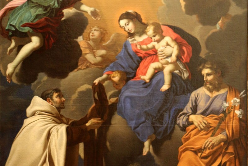 La Madonna del Carmelo e lo Scapolare che libera dalPurgatorio