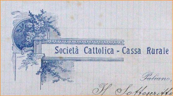"""Paliano 1909, la nascita della """"Cassa rurale cooperativa diprestiti"""""""
