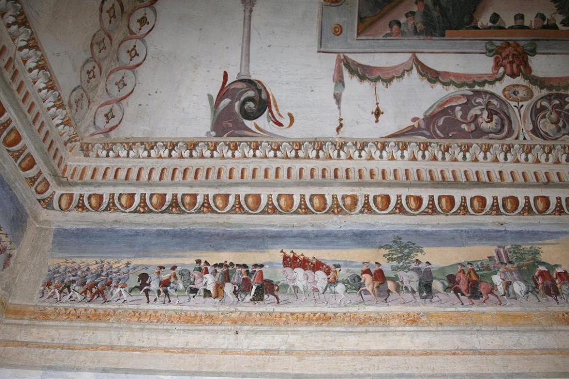 Gli affreschi della Fortezza diPaliano